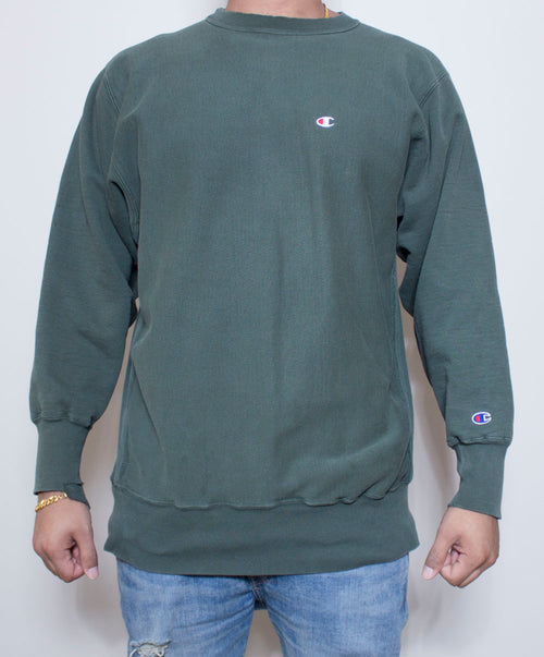Forest Green Champion Crewneck
