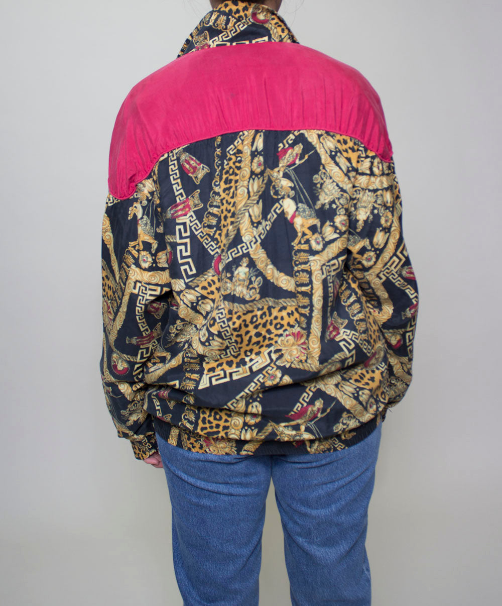 Gold Versace Inspired Windbreaker