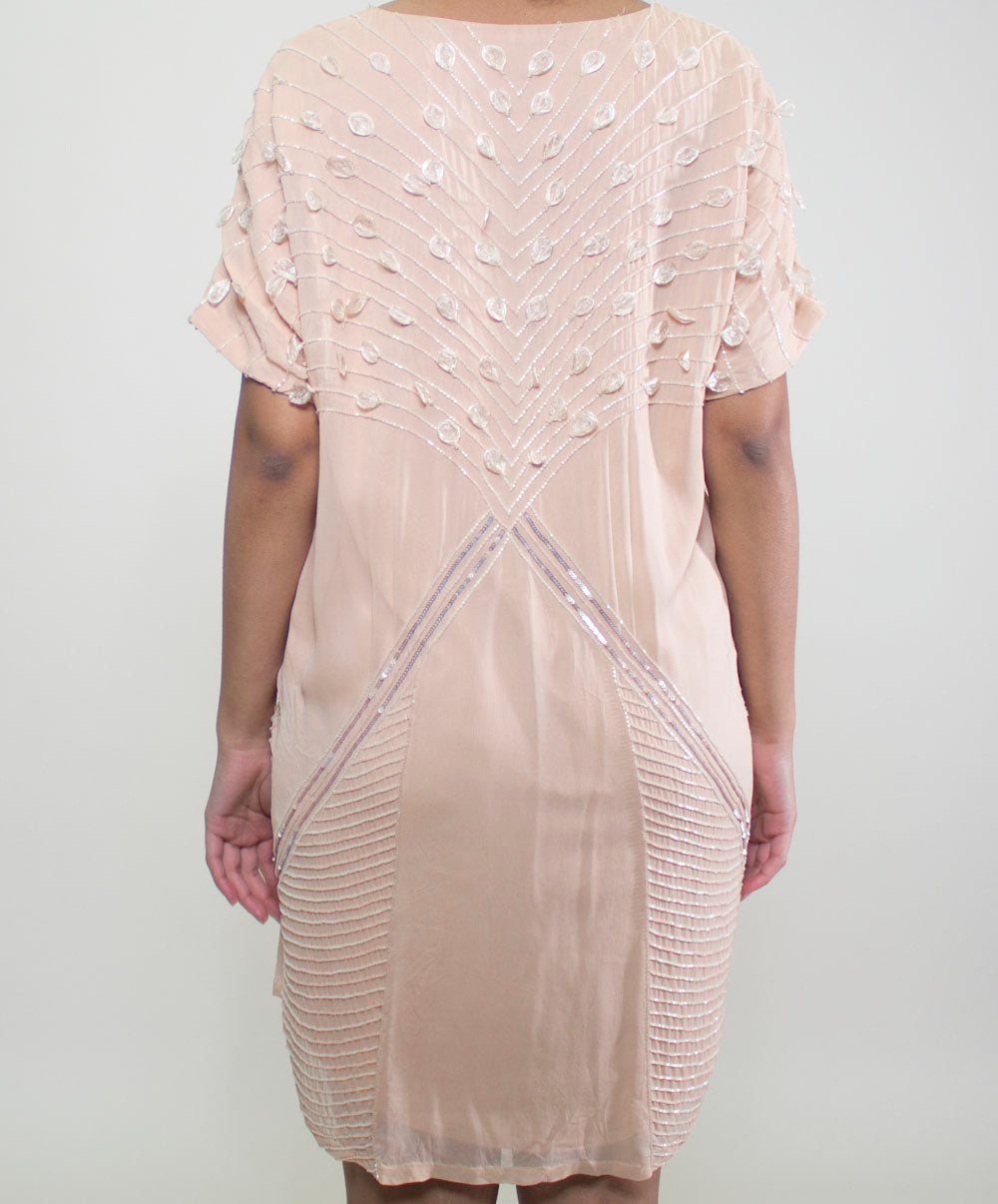 Blush Pink Beaded Dress