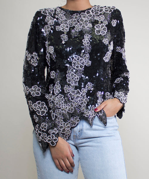Solange Sequin Top