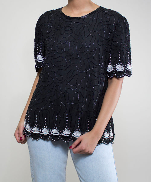Black Swan Sequin Top