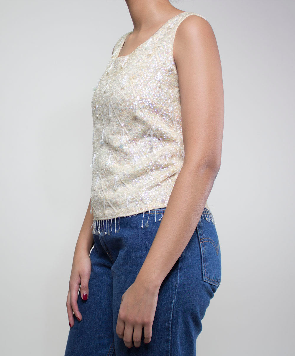Icicle Sequin Top