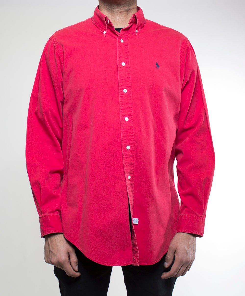 Red Ralph Lauren Button-Up