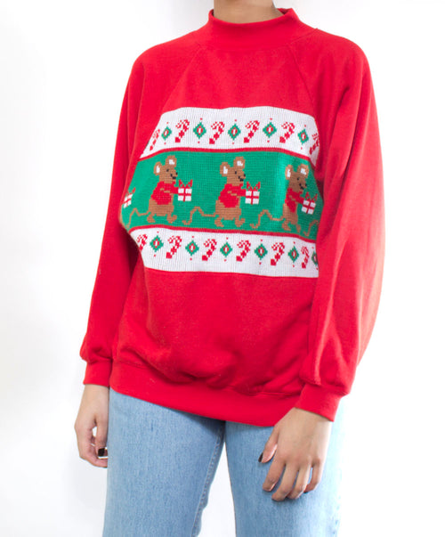 Ugly X-mas Sweater: Mischievous Mice
