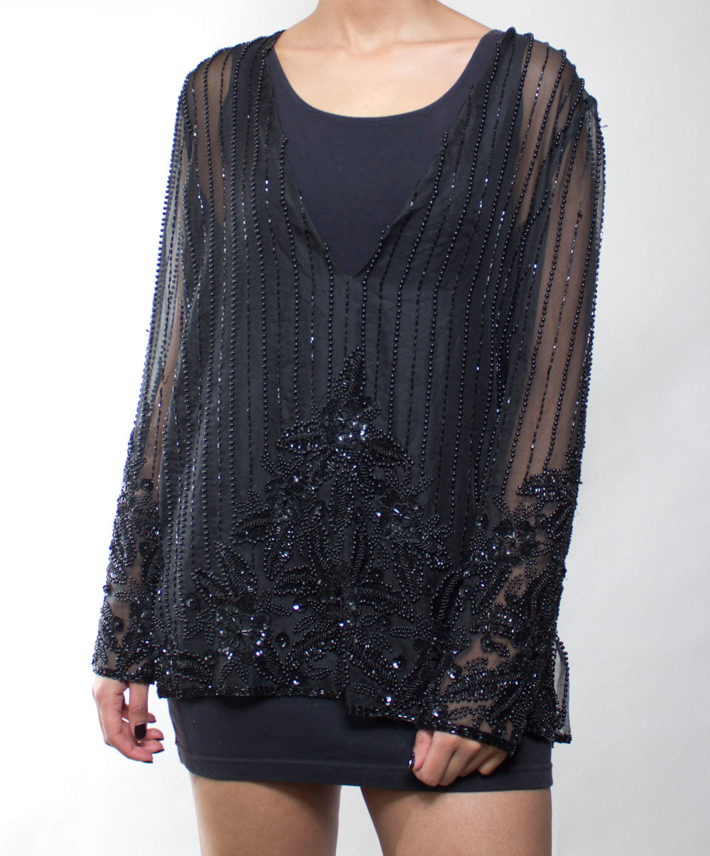 Onyx Sequin Top