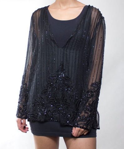 Supernova Sheer Sequin Top