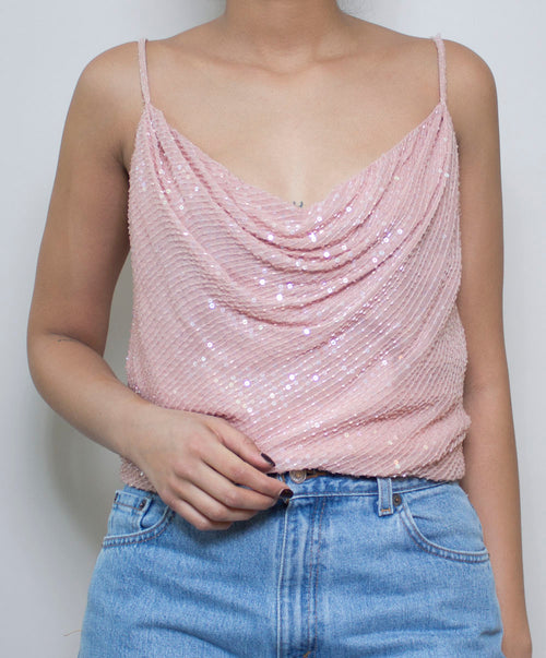 Blush Babe Sequin Top