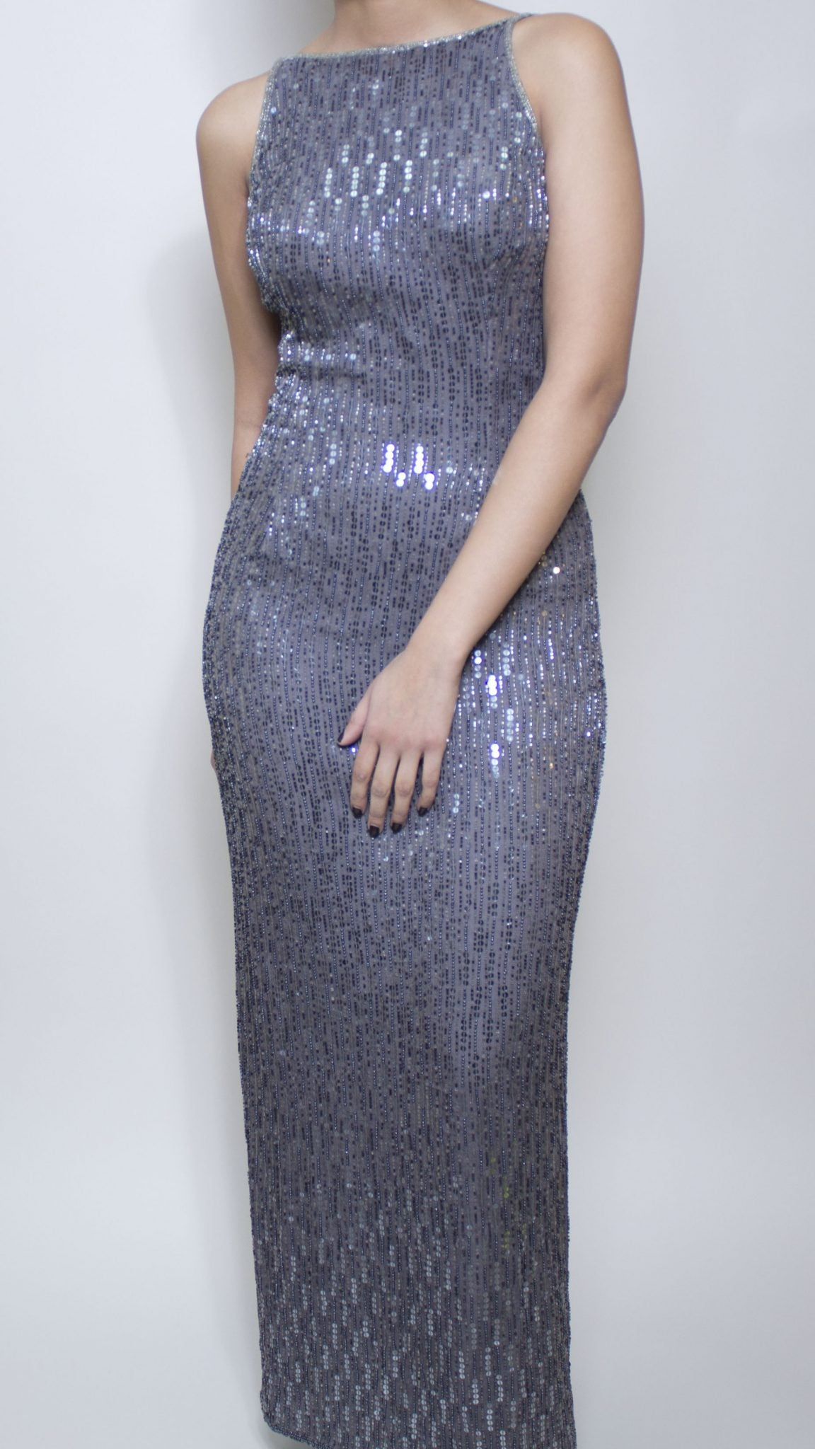 Gunmetal Sequin Dress