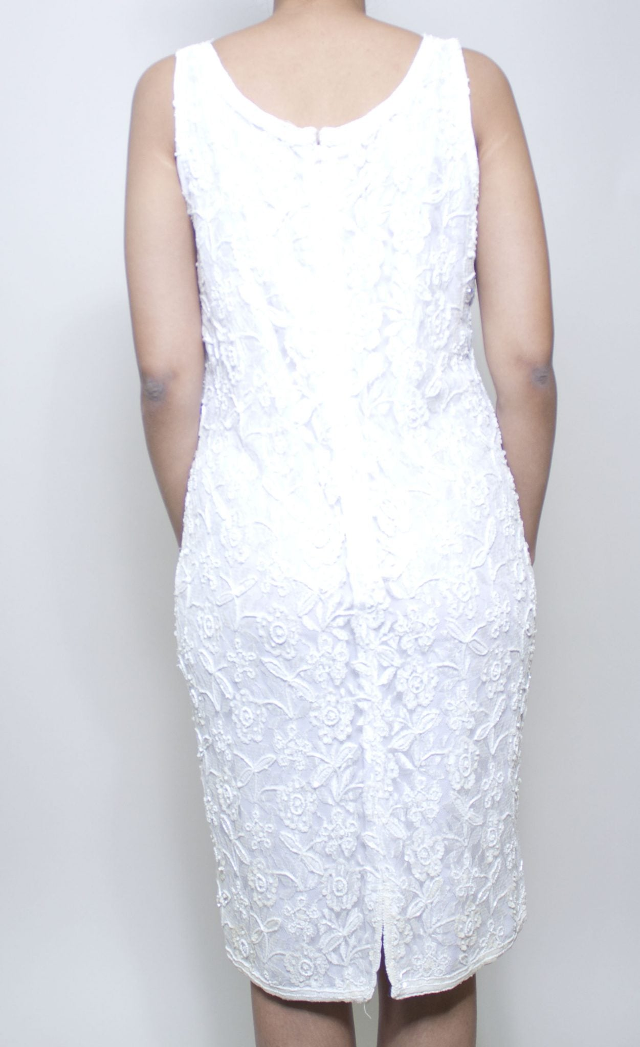 White Diamond Sequin Dress
