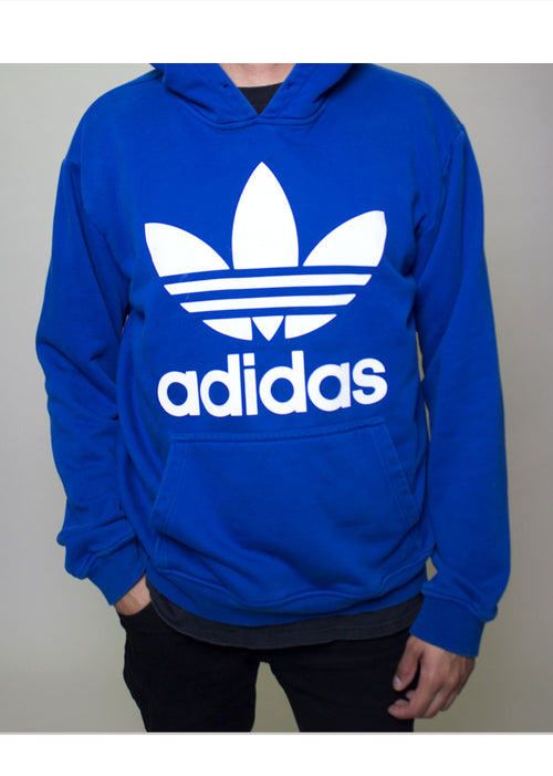 Blue and White Adidas Hoodie
