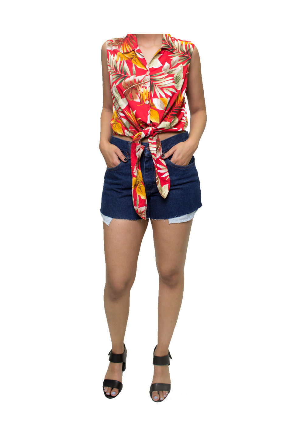 Tropics Tie-Up Blouse