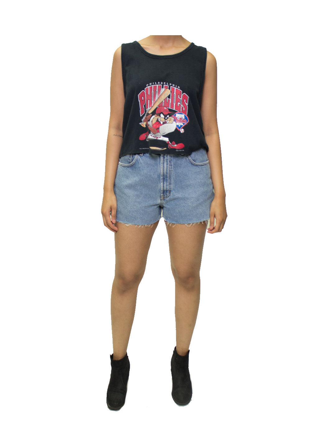 Phillies Tazmanian Devil Crop Tee