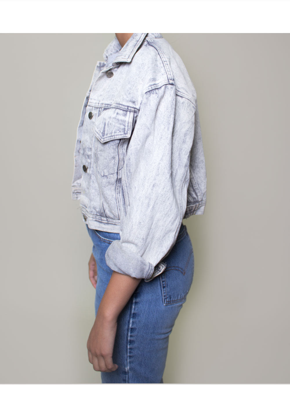Marina Cropped Denim Jacket