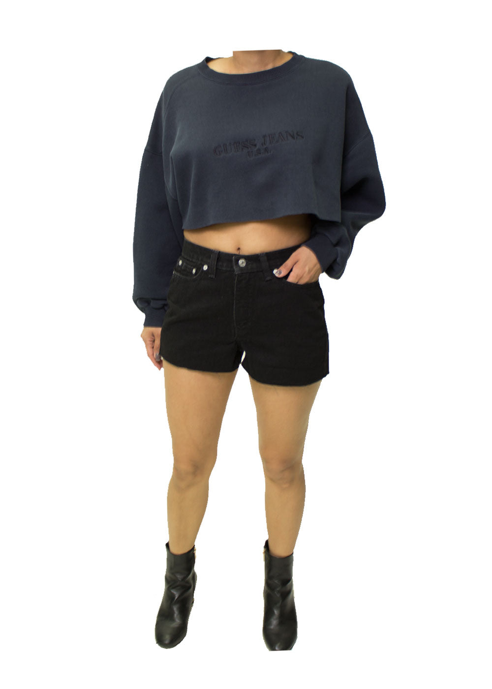 Tommy Hilfiger Black Denim Shorts