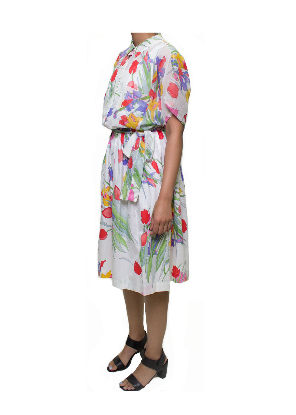 Mia Collared Floral Dress
