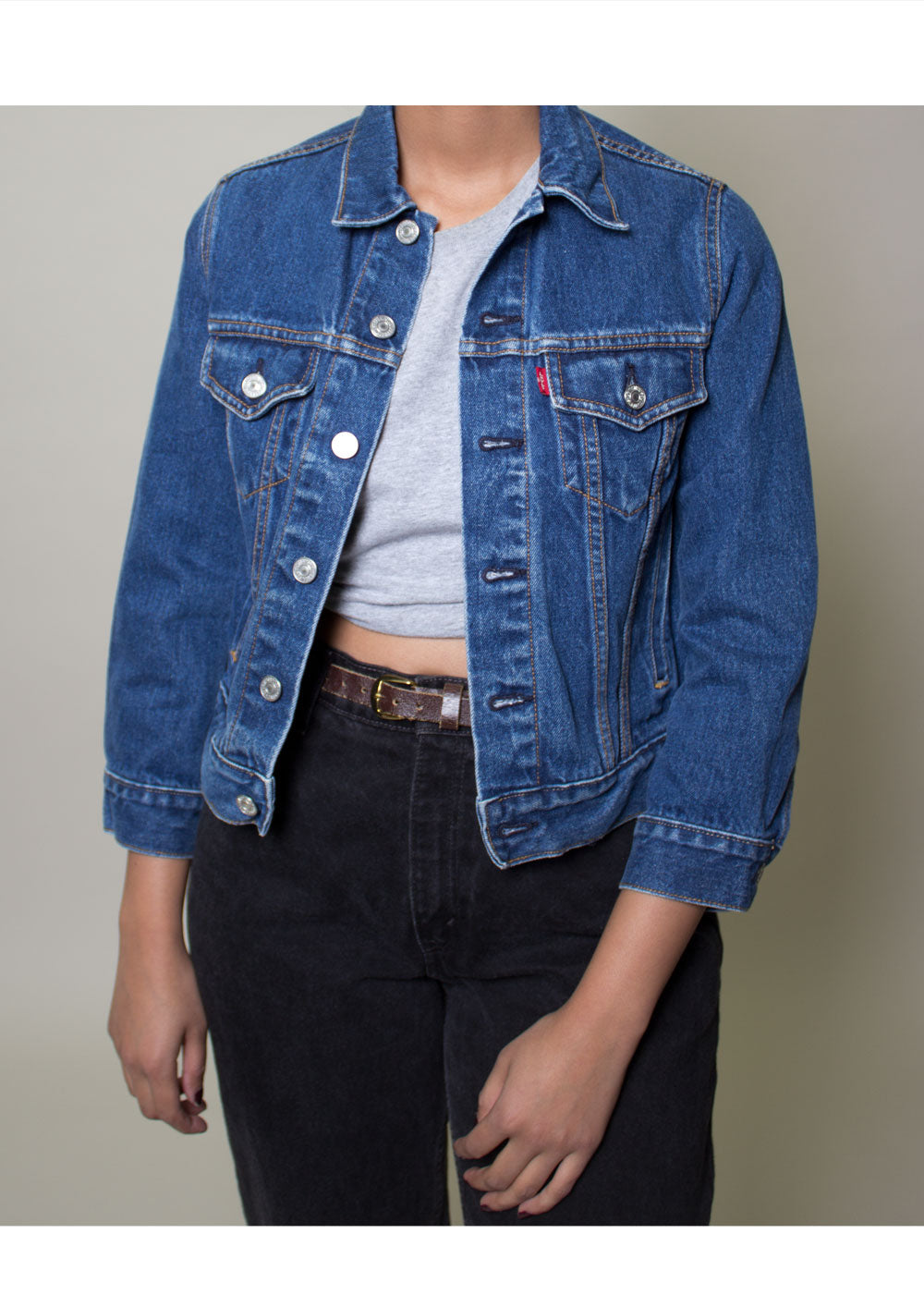 Levis Denim Jacket-Dark Wash
