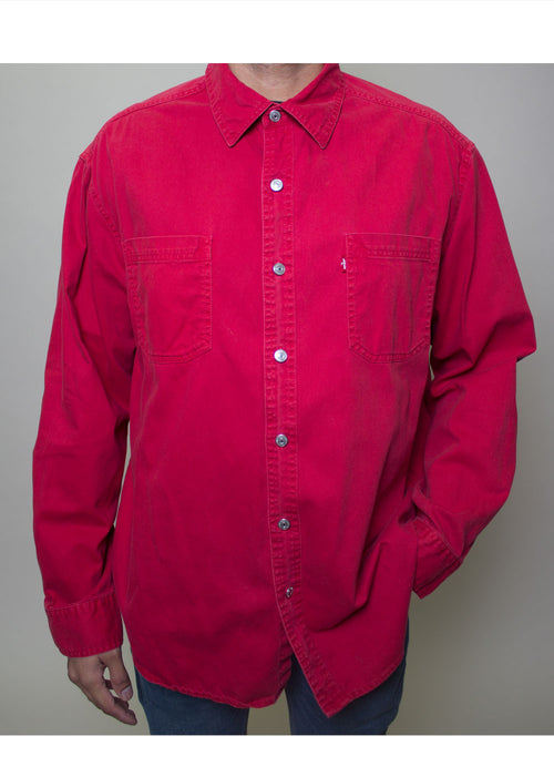 Levis Red Button-Up