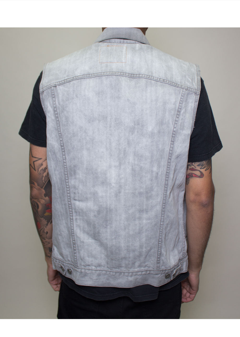 Grey Denim Levis Vest