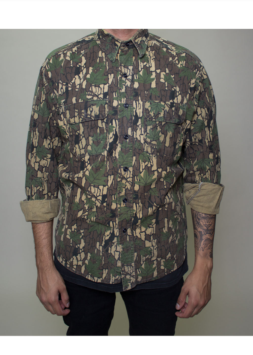 Trevor Camo Button-Up