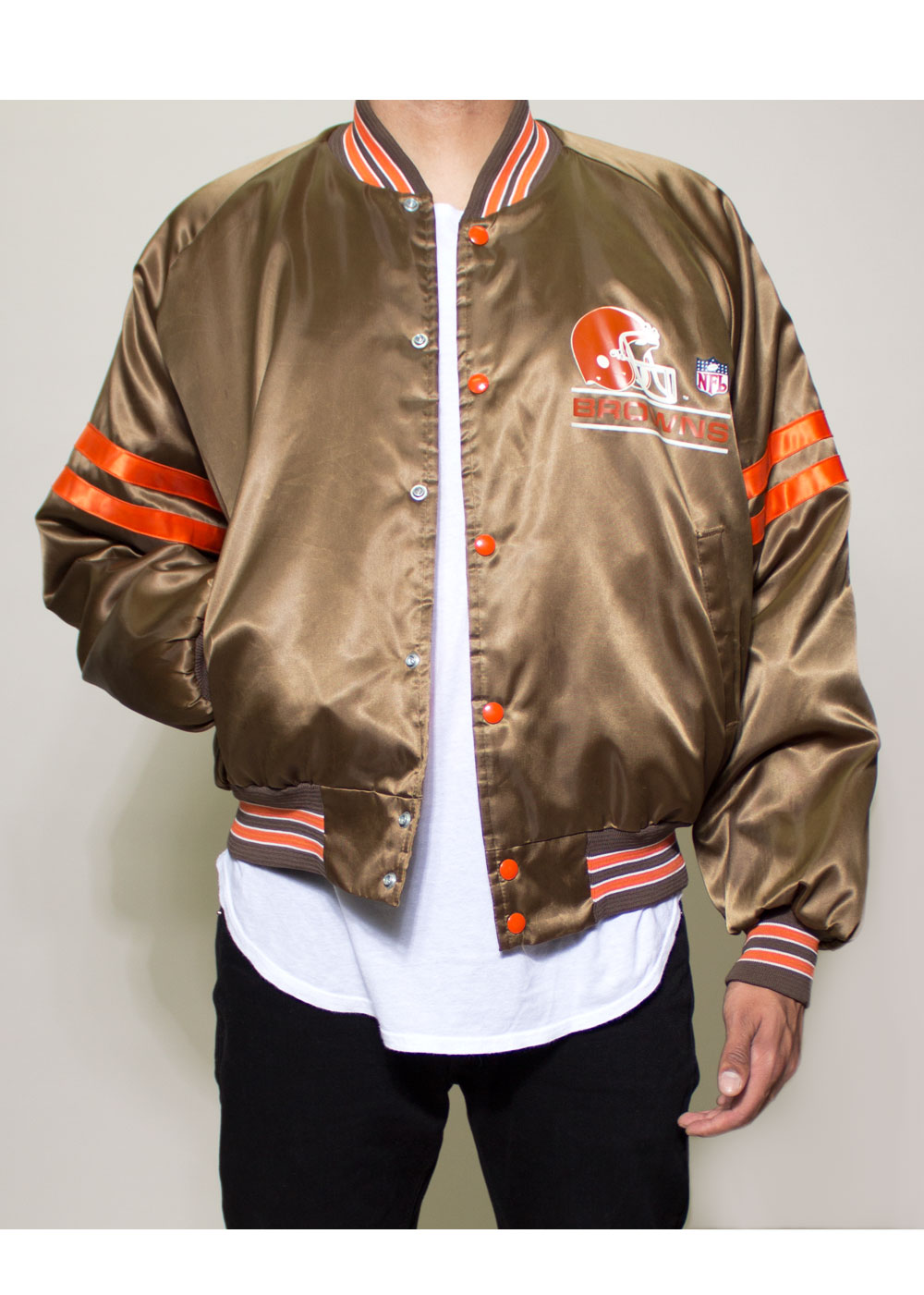 newest 2bb00 b0d16 Cleveland Browns NFL Bomber Jacket