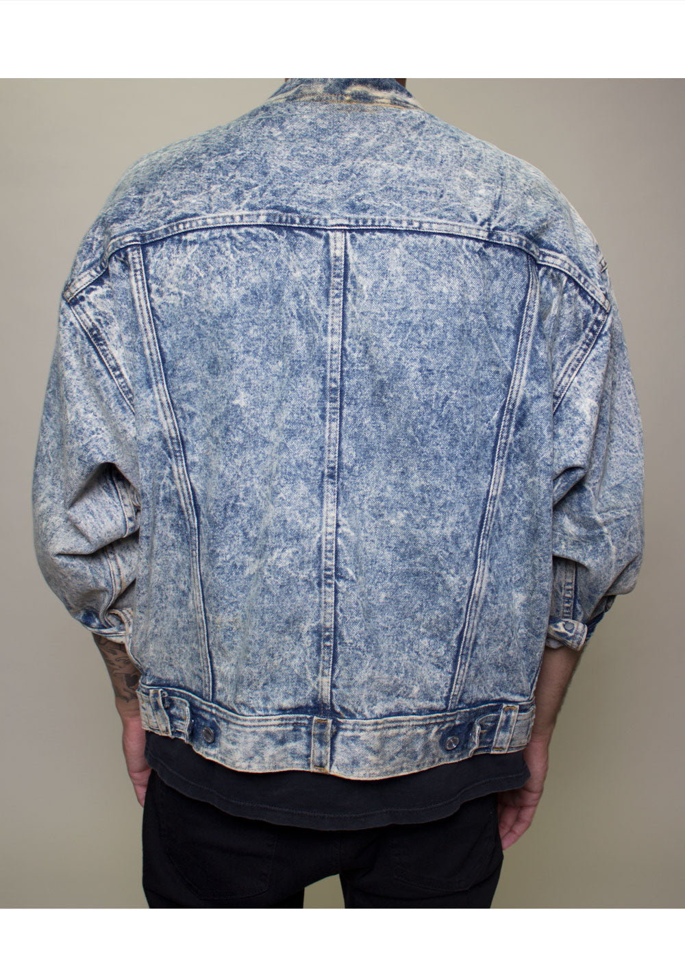 Stefan Acid Wash Denim Jacket