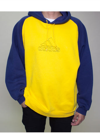 grey and yellow adidas hoodie