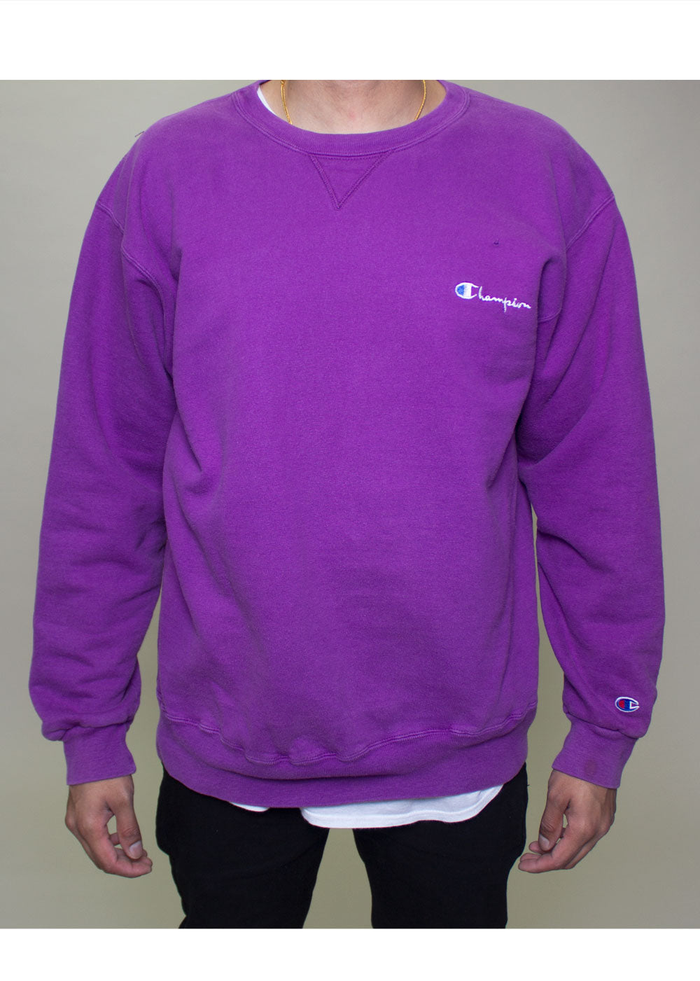 5624f3ea Purple Champion Crewneck – BridgeandBardot