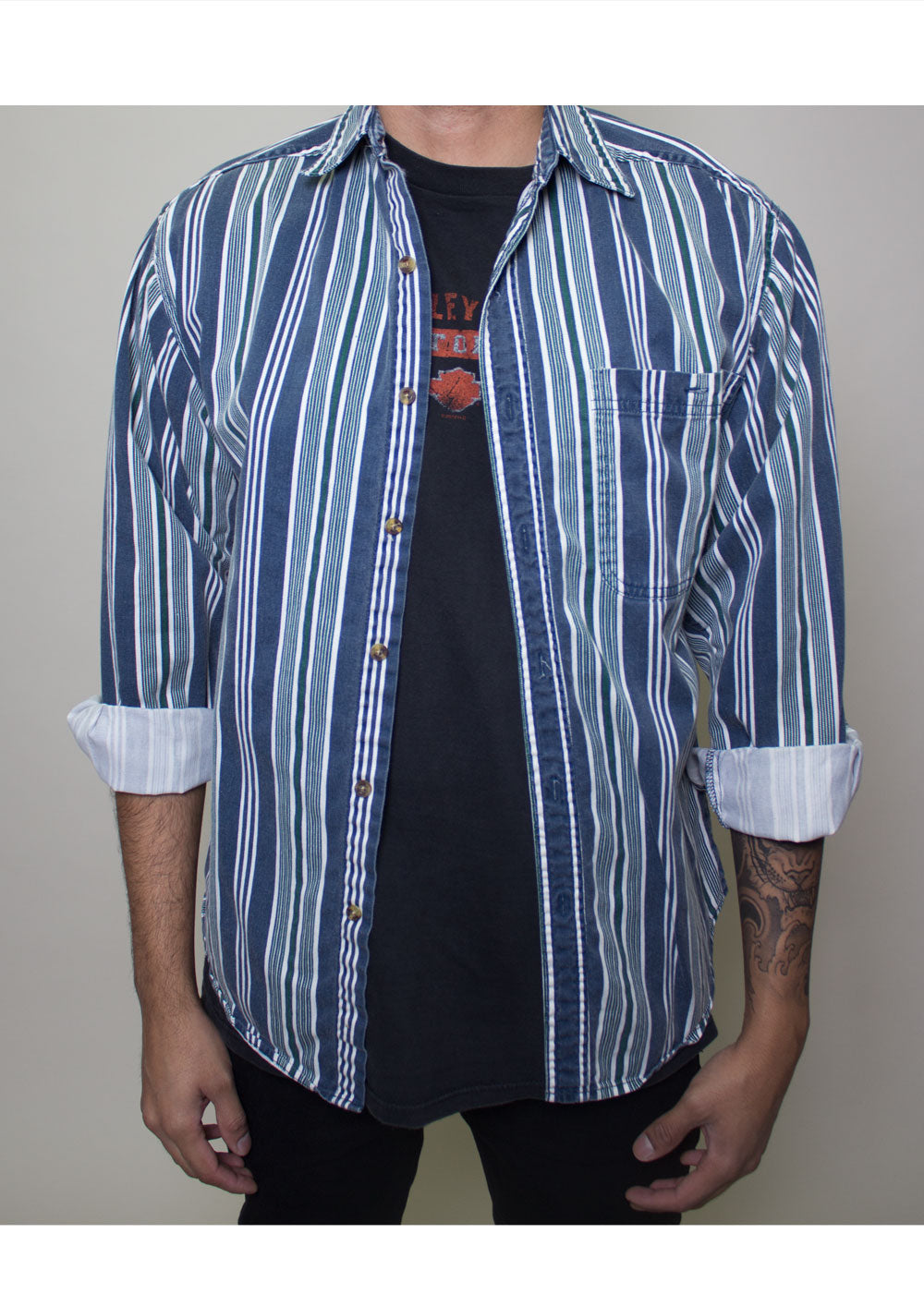 Carter Striped Button-Up