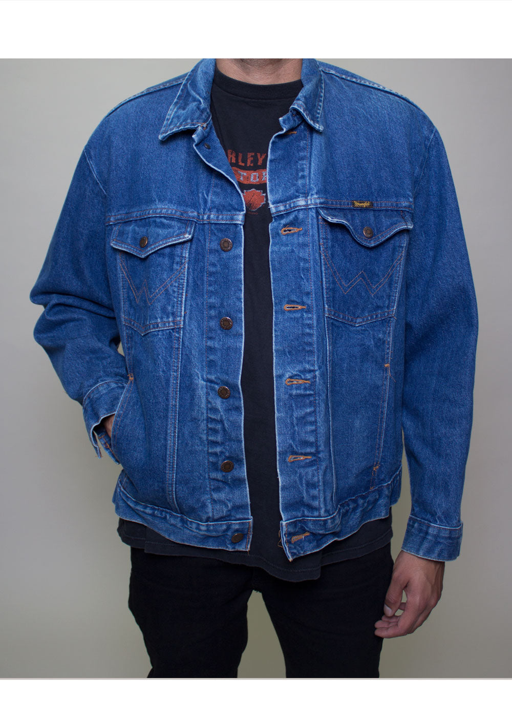 Classic Blue Wrangler Denim Jacket