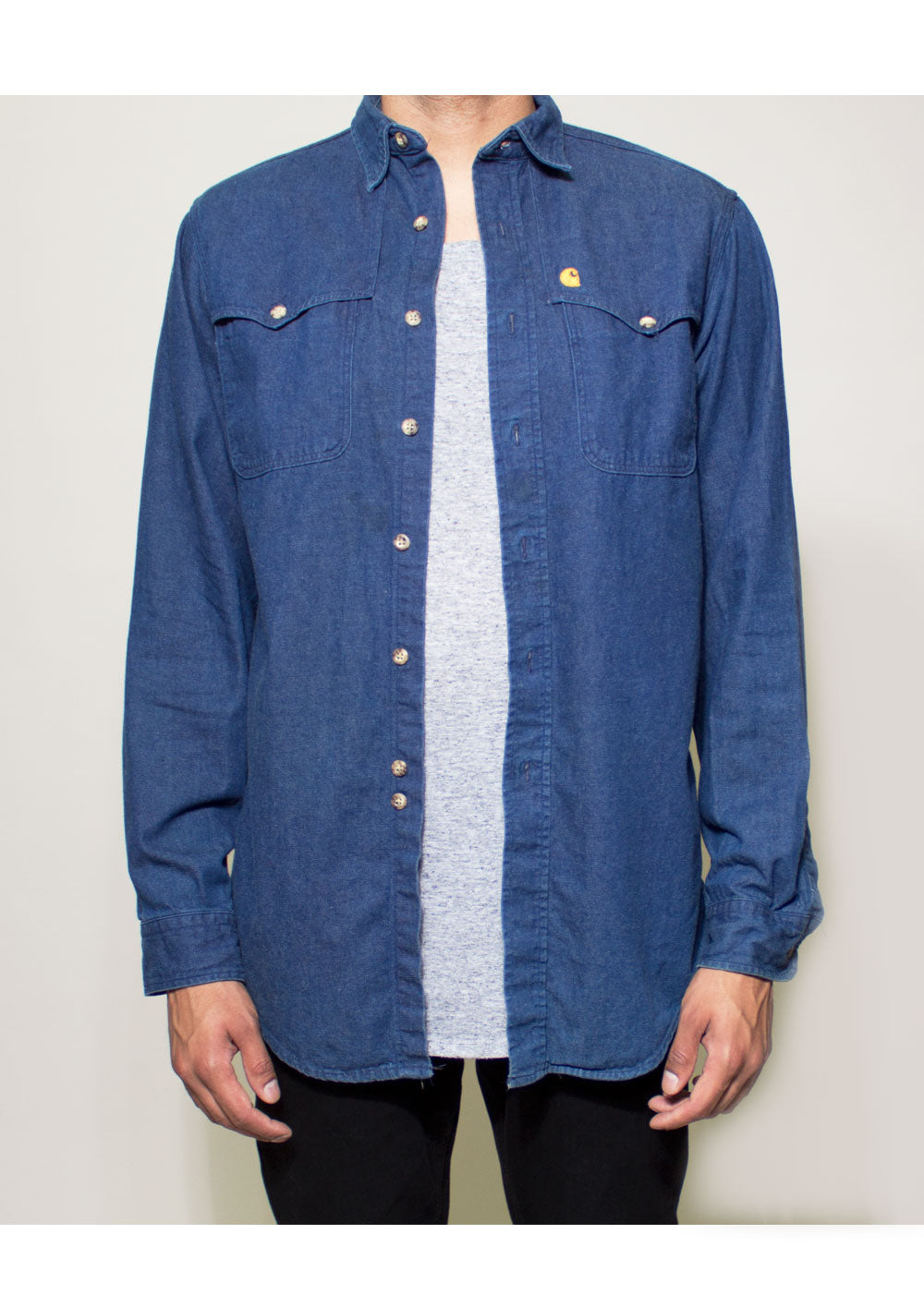 Damon Denim Button-Up