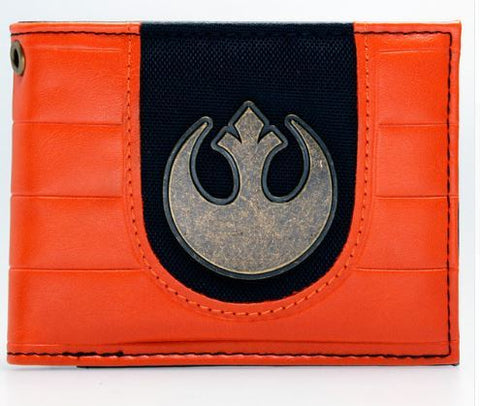 Cartera star wars naranja