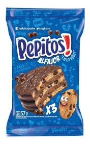 ALFAJOR PEPITOS x3 57g
