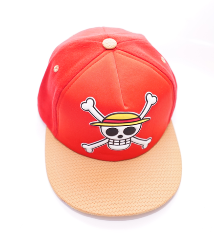 Gorra Heredia One Piece calabera Logo Roja