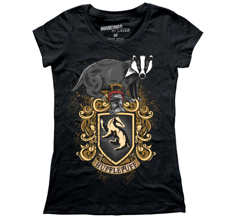 Mujer Hufflepuff Gris obscuro M