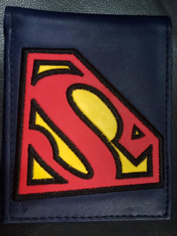 Cartera Superman Azul Bordado
