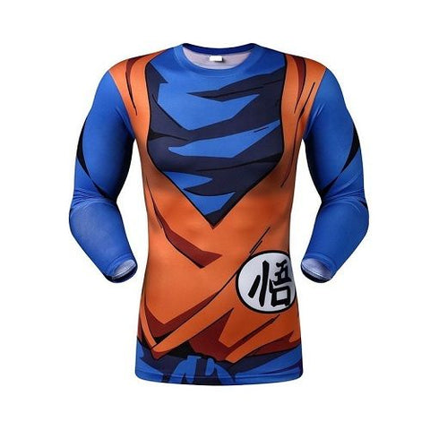 Playera Licra Goku Manga Larga XL