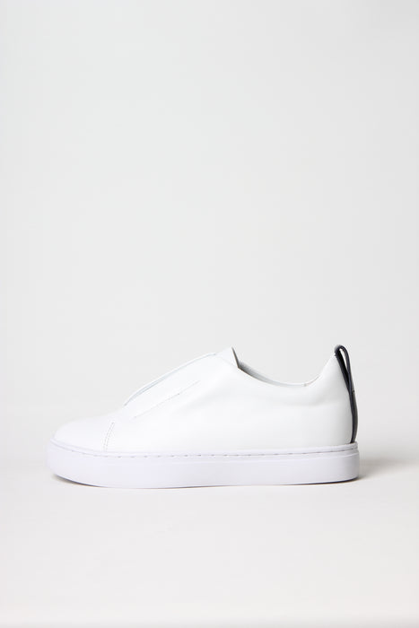 Premium slip-on sneaker in white calf leather from Swedish shoe brand ANNY NORD.