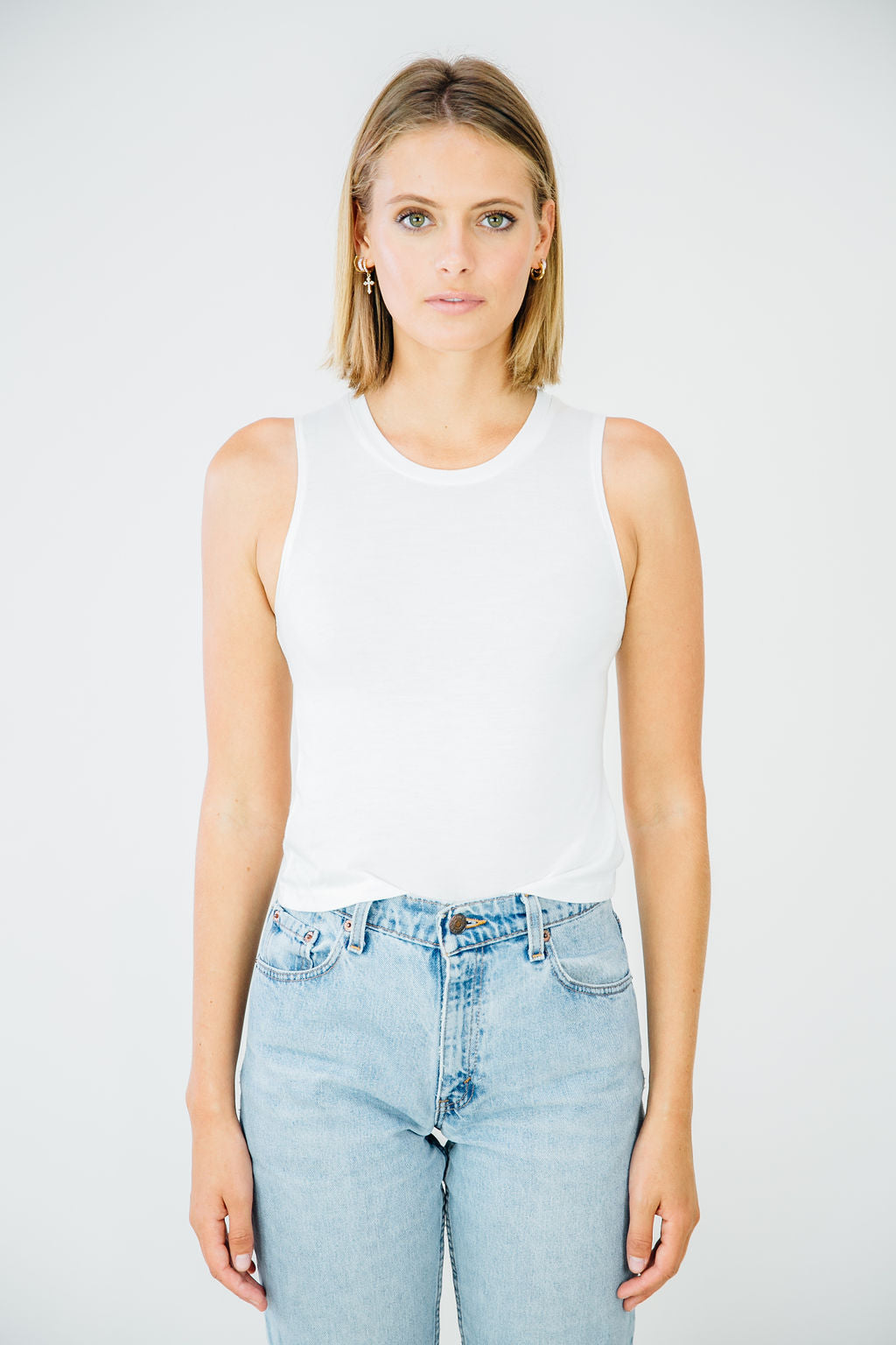 Perfect Muscle Tank- White
