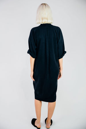 The Kimono Dress-Midnight Navy
