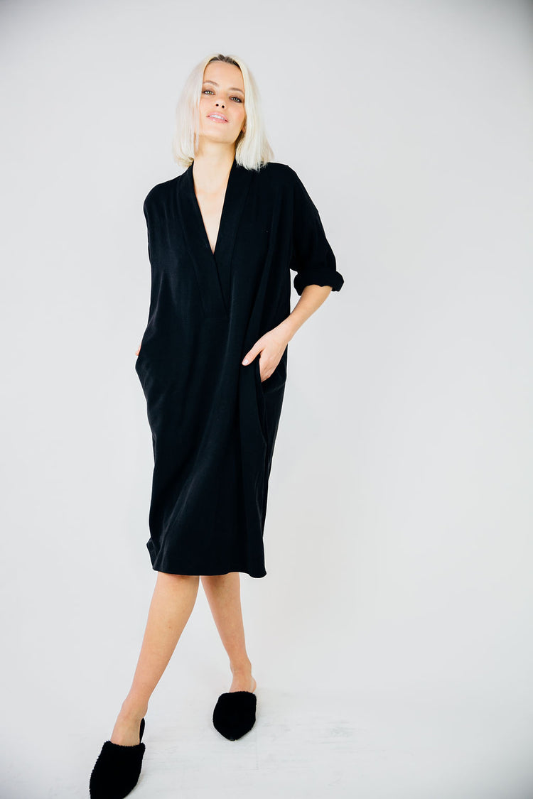 The Kimono Dress-Black