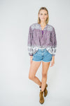 Vintage Long Sleeve Top- Purple