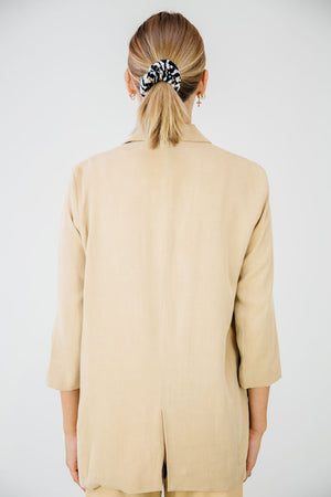 The Everyday Blazer-Almond Tan