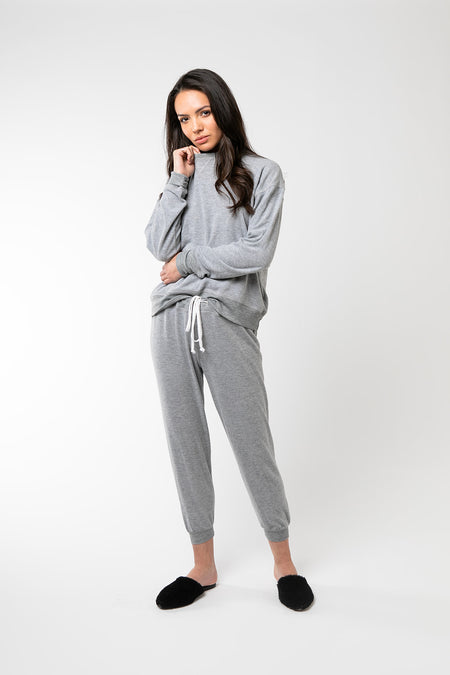 The Luxe Sweatsuit- Light Gray