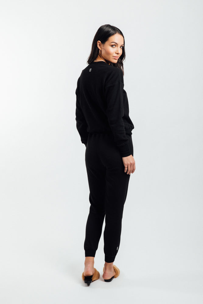 The Dame Sweatsuit- Black