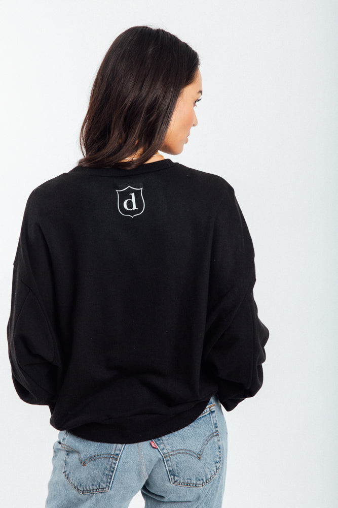 "The ""DAME"" Graphic Oversized Sweatshirt-Black"