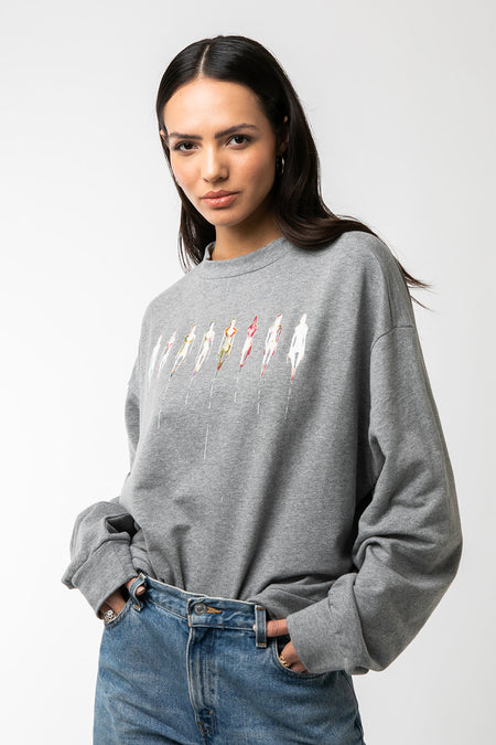 Kim McCarty Graphic Sweatshirt- Eight dames