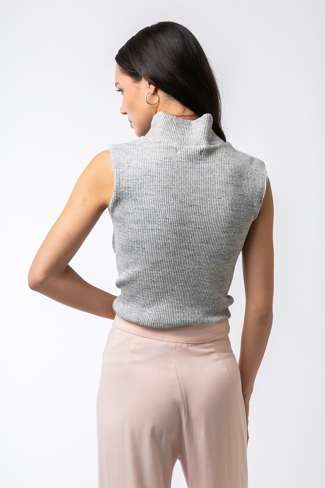 The Turtleneck Tank- Grey