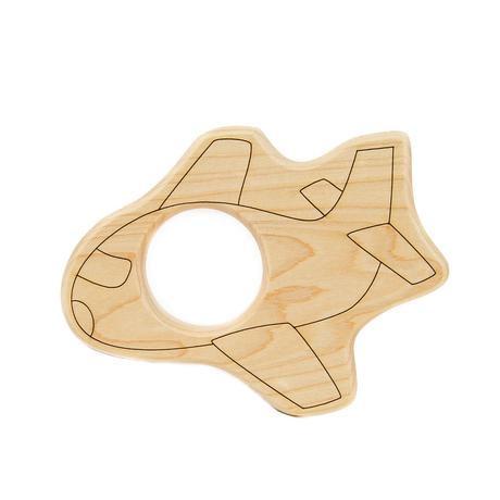 Little Sapling Toys - Airplane Wood Toy Teether