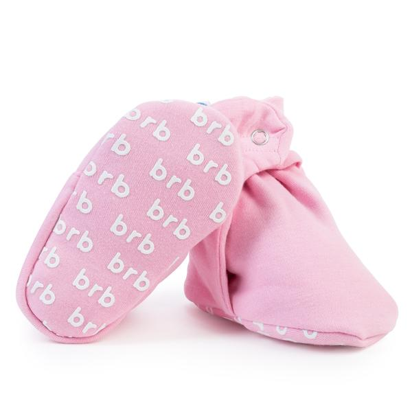 Ballet Pink Cotton Baby Booties
