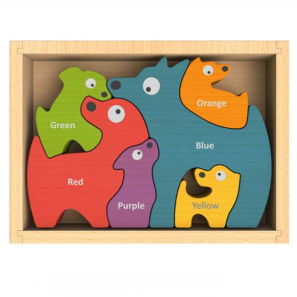 Dog Family Bilingual Color Puzzle